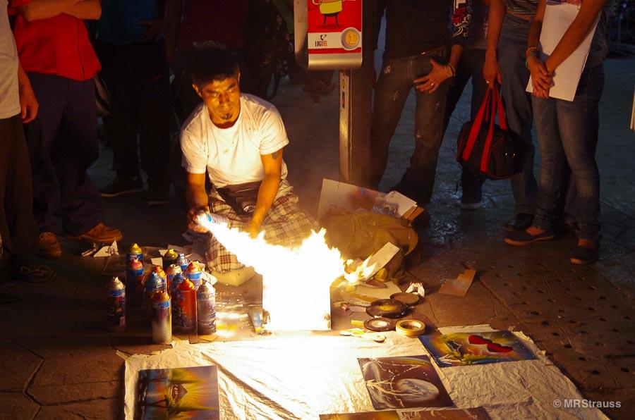 Street artist in Mérida