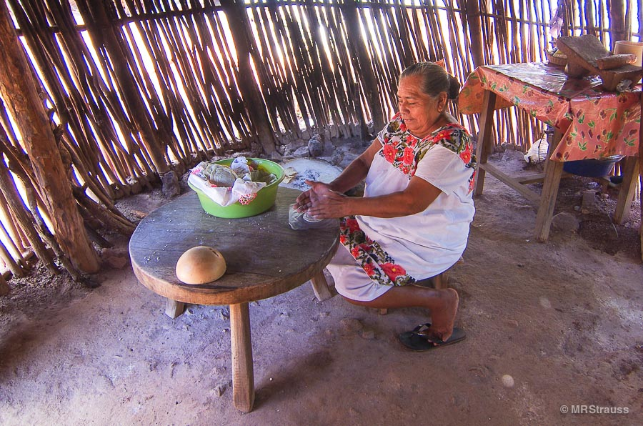Traditional tortilla making